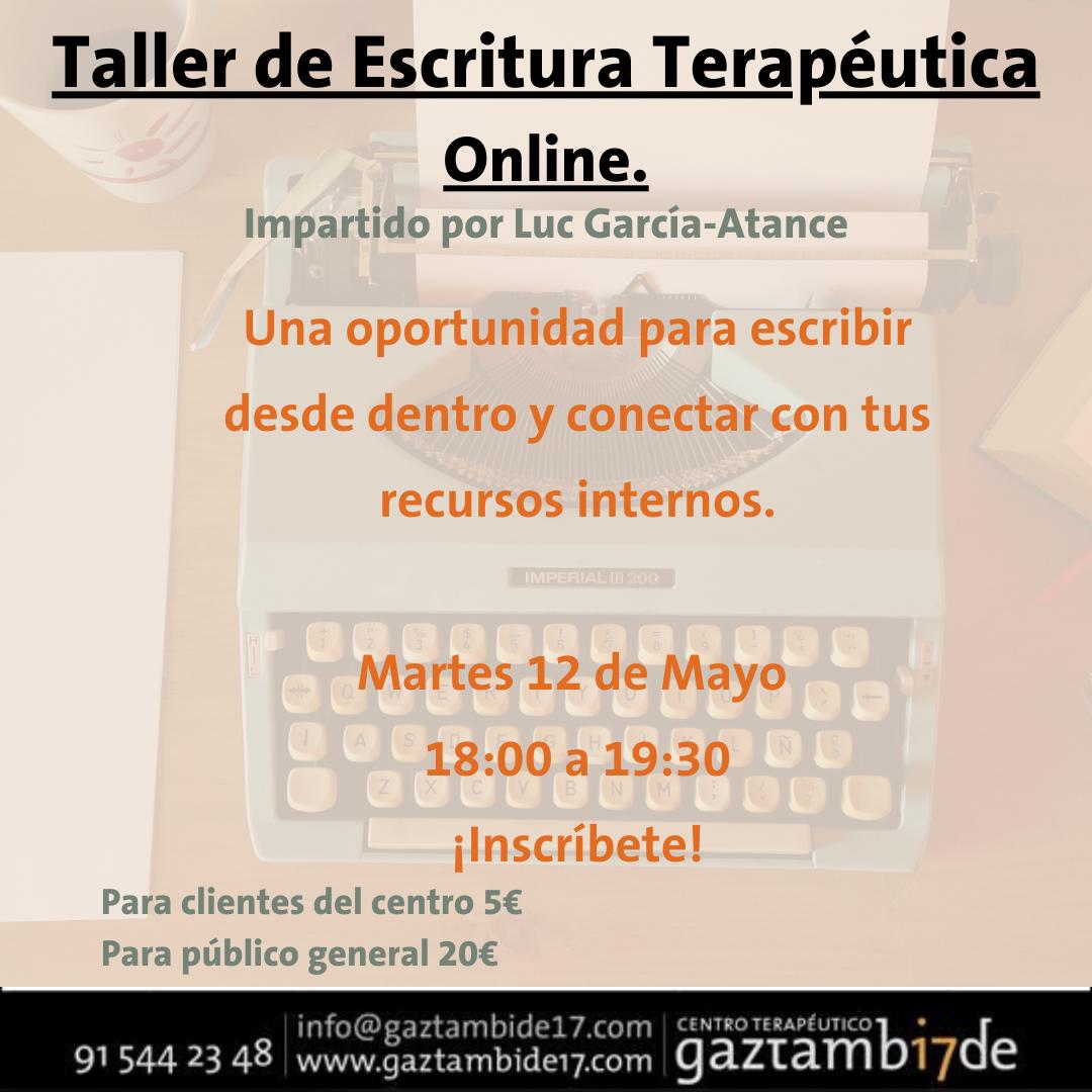Cartel taller escritura terapeutica
