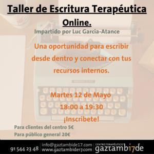 """Taller de """"Escritura Terapéutica"""". Online"""