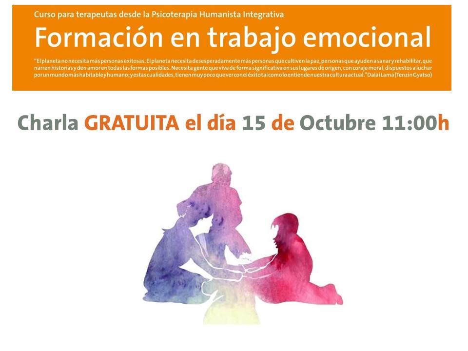 Charla Gratuita 15 Octubre a las 11:00h - Formación en Trabajo Emocional